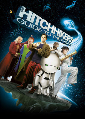 Netflix box art for The Hitchhiker's Guide to the Galaxy